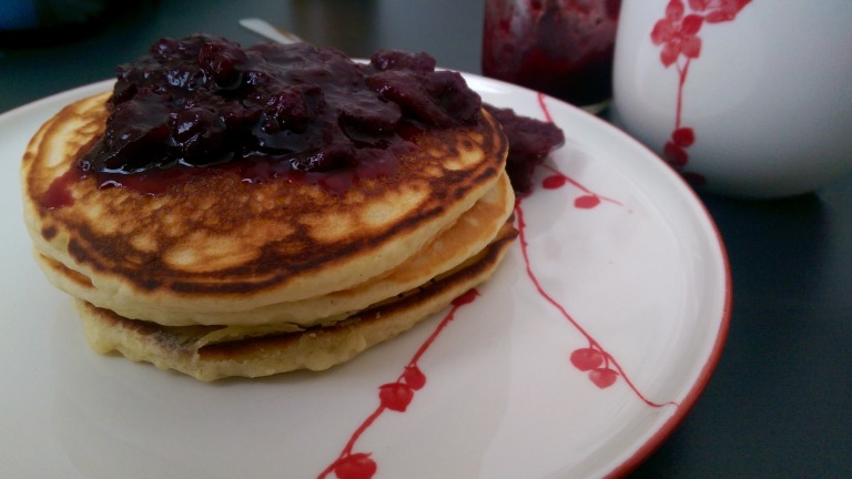 Pancakes, the perfect jam delivery vehicle.