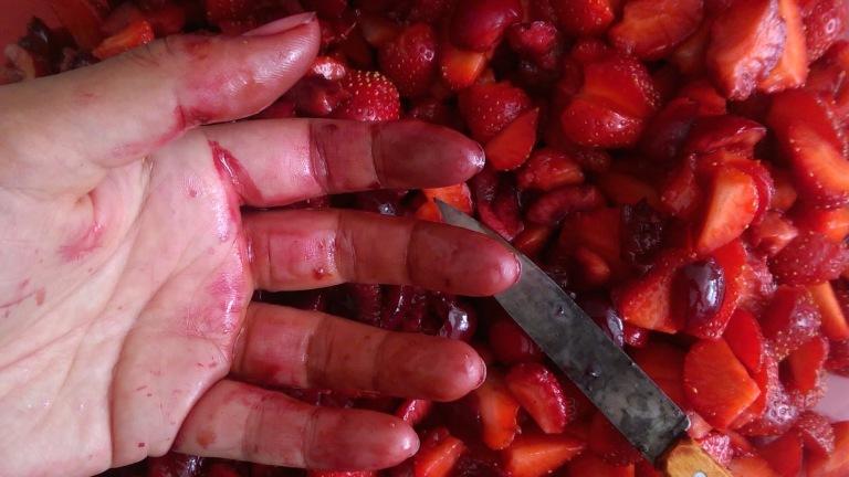 Perhaps food prep gloves are a good idea?