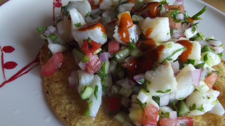 Red Snapper Mexican ceviche.