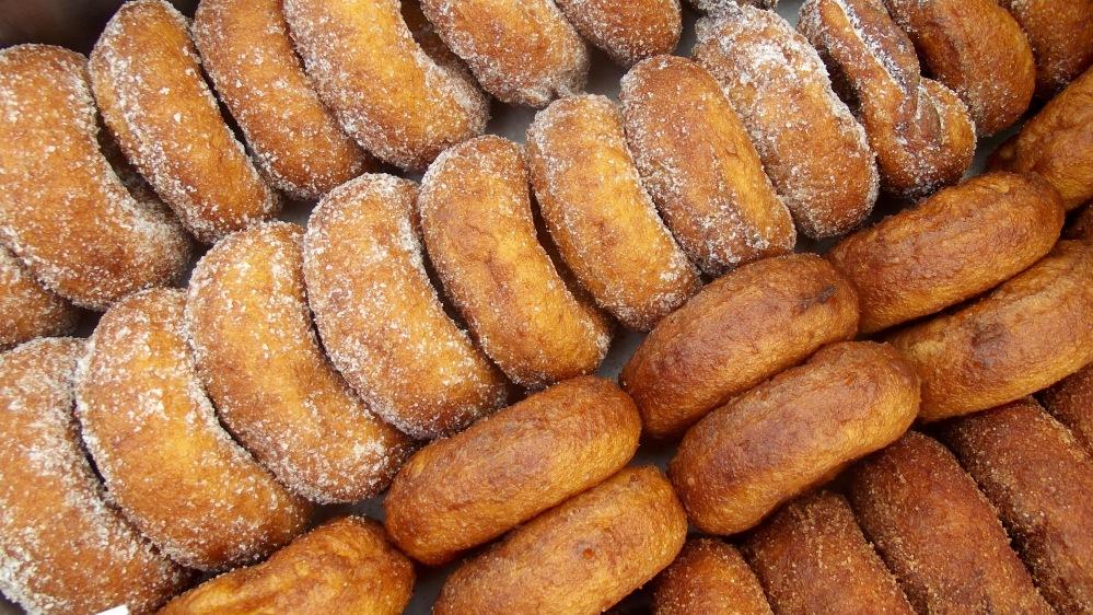 Cider donuts at Saratoga Farmers' Market.