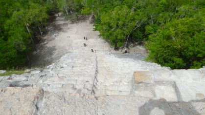 View from the top of Nohoch Mul, Coba
