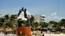 Plaza Fundadores, Playa del Carmen, Quintana Roo.