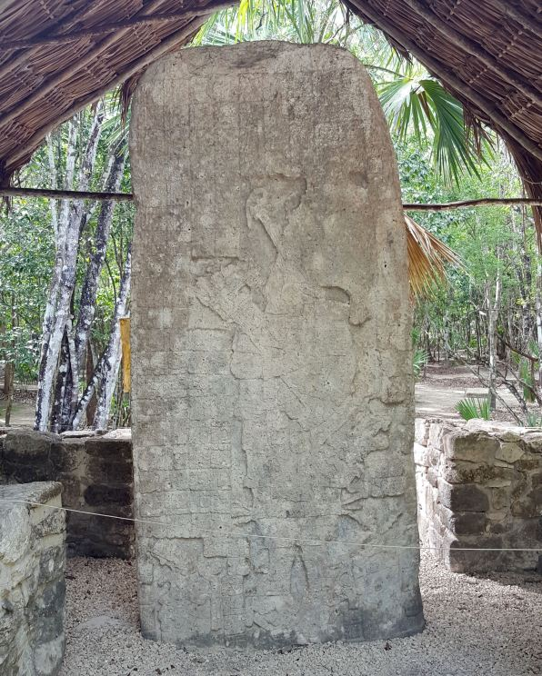Relief carving at Coba