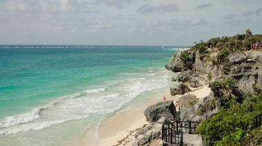 Beach at Zona Arqueologica de Tulum